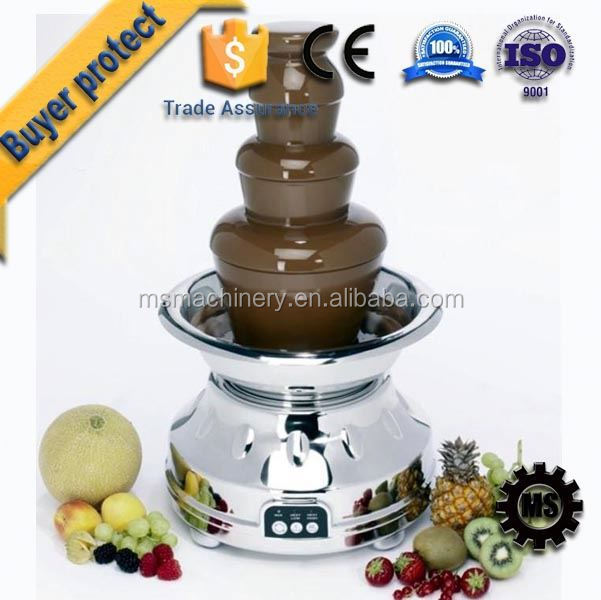Energy Saving Professional large 5 tier commercial chocolate fountain prices gold supplier