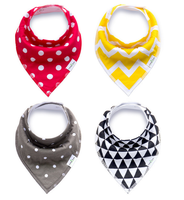 2016 Latest cheap customized nice pattern baby products wholesale new design 4pcs /set baby bib bandanas