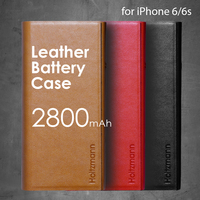 Leather flip cover power bank battery case for iPhone 6 6s 2800mAh LBC-i6