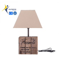 2018 nature color Friends wood carving table lamp base for bedroom solid wood FSC home decoration CE ROHS BSCI