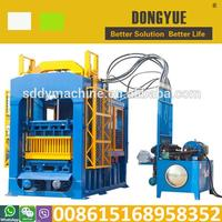 2014 Hot sale QT6-15 fly ash brick making machine in kolkata(45 set in India)