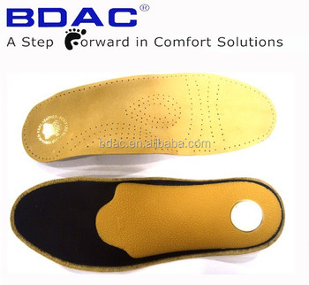 latex orthotic latex and leather posture control flat foot insole