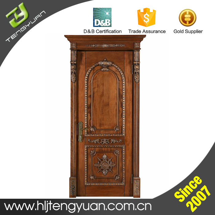 New product luxurious original main door design solid wood for New main door design
