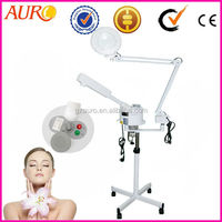 AU-900E popular 2016 hot sell ozone steam sauna facial steamer with magnifying lamp for sale