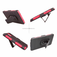 Kickstand PC Silicon Hard Cover Case for Samsung Galaxy Note 4