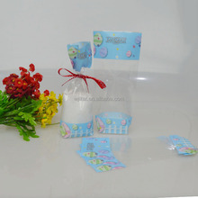 Food Grade custom printed plastic opp square bottom bags for candy packing