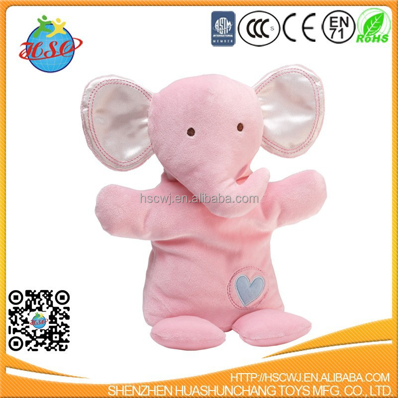 hot sale soft plush pink elephant for baby sleeping