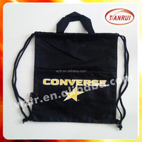 2015 alibaba best sale OEM logo printing non woven drawstring bag/travel shoe bag made by china supplier