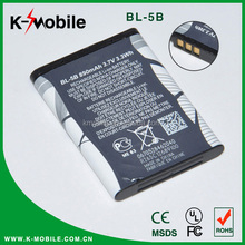 High Quality Original Rechargeable Original Mobile Phone BL-5B Battery for Nokia with High Capacity