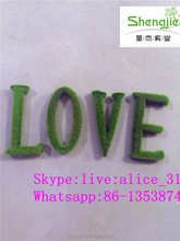 green moss letter artificial topiary letter for sale artificial moss for decoration