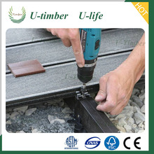 High quality Low price outdoor wpc aluminum trailer decking