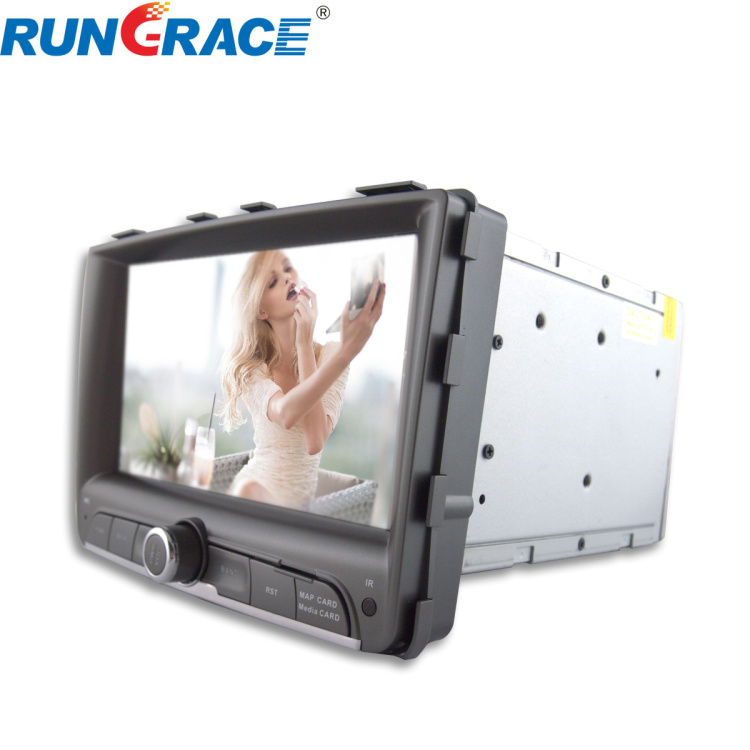 7 inch Touch screen 2 din ssang yong Rexton w car video recorder with gps, ipod, TV, Wifi, 3G functions