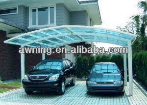 aluminum double carport