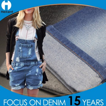Chinese manufacturer 7.97oz / 270gsm knitted denim fabric for jeans