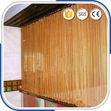 Functional Various Color Wire Mesh Curtain Metal Coil Drapery For Room Divider