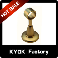 KYOK 12 years experiences extendable metal 22mm iron curtain rod bracket,aluminum stylish stainless steel curtain pole brackets