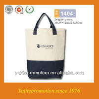2013 matched color cotton canvas shopper for promotion for women