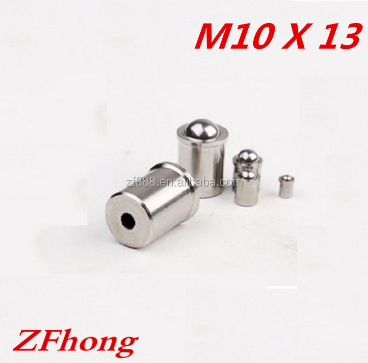 10*13 stainless steel 304 smooth spring ball point plunger set <strong>screw</strong>