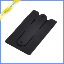Creative design 3m silicone phone stand up card holder