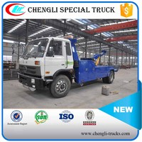 Dongfeng 145 4x2 6Wheel Recovery Truck Vehicle Flatbed Wrecker Tow Truck