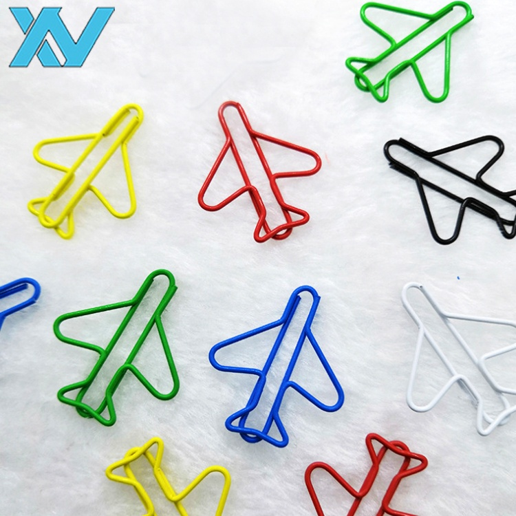 Popular colors airplane design metal paper <strong>clips</strong>