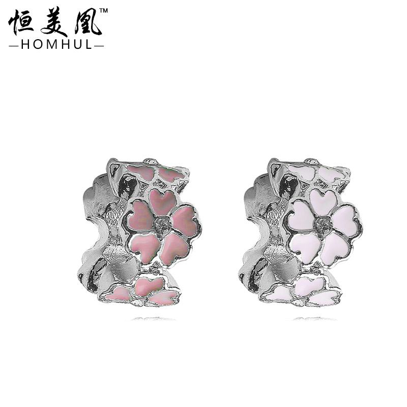 European and American wholesale jewelry DIY alloy cz diamond jewelry accessories wholesale fit bracelet beads