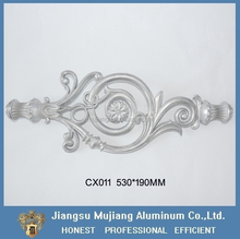First class die casting aluminium scroll flower for fence and gate, fence gate parts and ornaments design