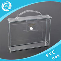 custom plastic small round cake box with clear lid