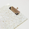 Custom-made Gold Glitter Acrylic Clipboard A4 Size for Office Stationery Items