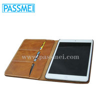 Genuine Leather Case for ipad with leather cover case for ipad with card holder