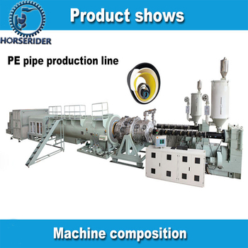 high quality plastic PE HDPE PPR pipe making machine