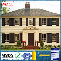 Anti fracture exterior dry erase wall paint