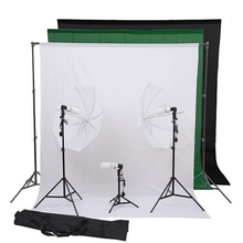 HomCom Photography Portatile <span class=keywords><strong>Kit</strong></span> W/Stand Scenografia, Set ombrello, ight Lampadine
