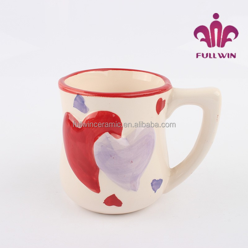 Valentine's day ceramic cup love mugs custom design mug with heart pattern