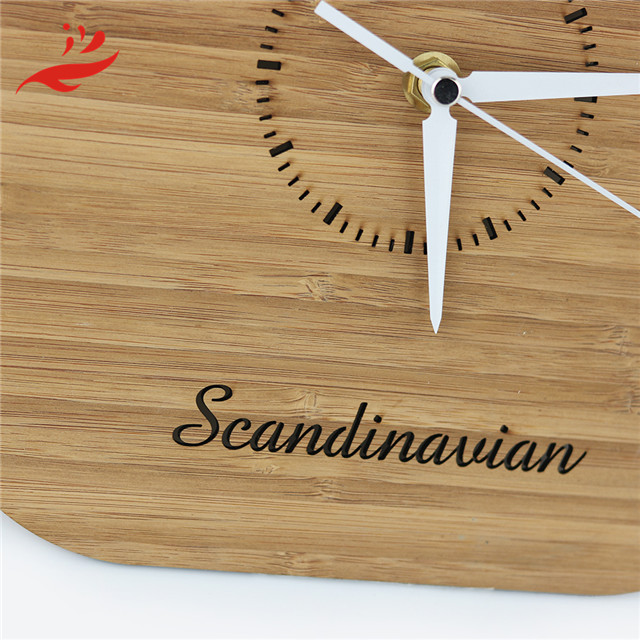 china manufacturer modern wood wall clocks with free logo