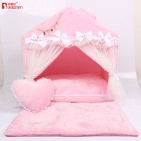 Portable Dog Hut Luxury indoor cat house /Cozy Warm Great Pet Bed House for Dog Cat