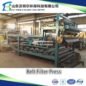 Better Brand Belt Filter Press for Sludge Dewatering/wastewater Treatment