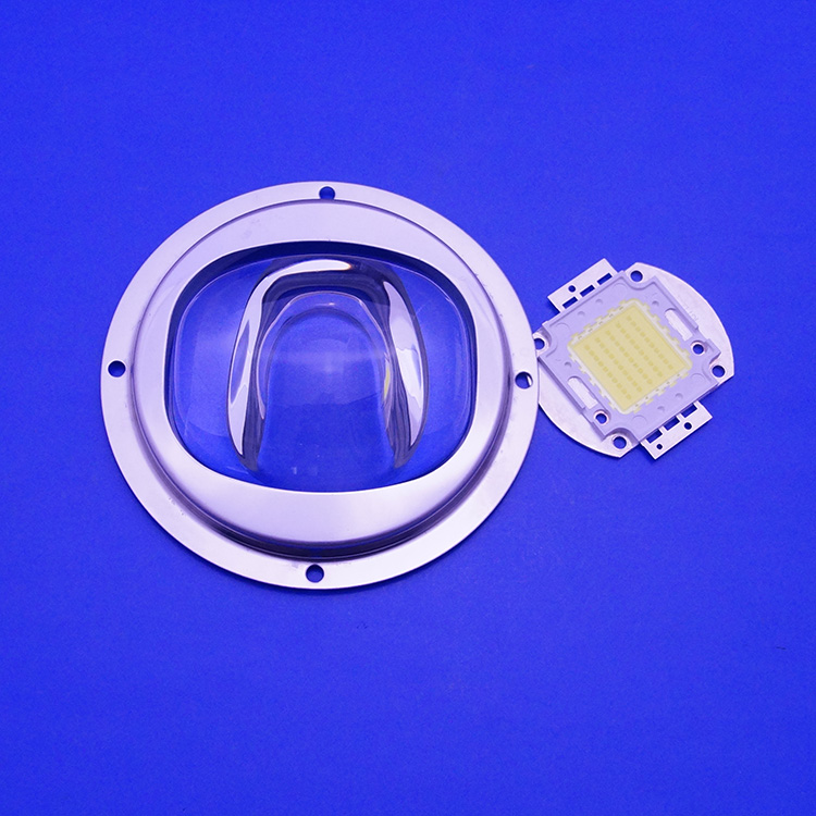 60mm Round Glass Led Lens for 10W 30W Led Tunnel Light