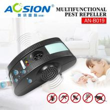 Aosion Sample available electromagetic + anion + ultrasonic + night light house fly removal for mouse rat bug fly