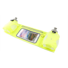 water resistant waist belt bag hydration belt with 2 bottle and touch screen