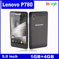 "Original Lenovo P780 Cell Phones MTK6589 Quad Core 5"" 1280x720 Android 4.2 1280x720 Dual SIM 1GB RAM 8.0MP 4000mAh Battery"