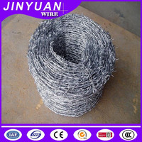1.8mm wire diameter Electro galvanized Barbed wire used for farm fencing
