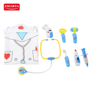 zhorya kids pretend play battery toy doctor set kit with realistic uniform