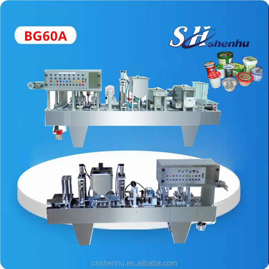 shanghai factory cup filling and sealing machine pack for yoghurt with CE/SGS popular type