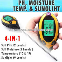 Digital 4 way soil and light tester