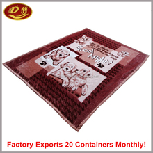 yiwu dihong factory China home textiles fire moving travel soft coral fleece mora blanket spain