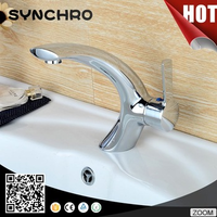Polished copper basin faucet single handle basin sink mixer tap
