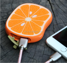 Fruits Power Bank Orange Watermelon Shape Mobile Phone Power Bank 8000mAh