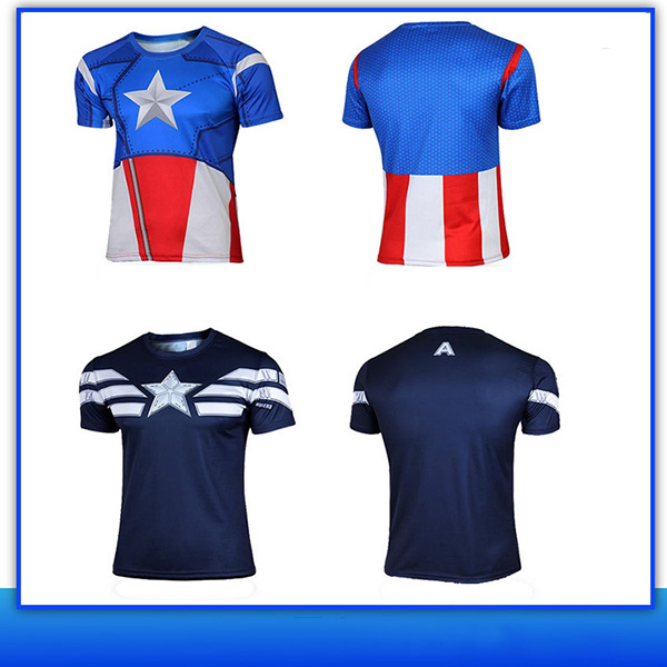 Aofeite Superhero Costume Tee Spiderman Captain America Iron Man 3d Custom T-shirt
