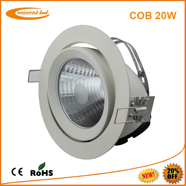 Led ceiling recessed downlighting 20w ce led cob spot light downlight